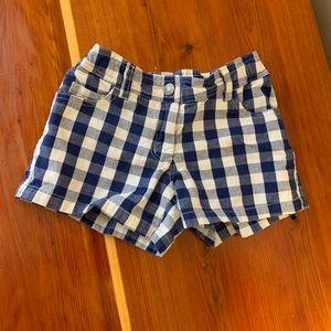 Mini Boden Girls Plaid Shorts 8Y
